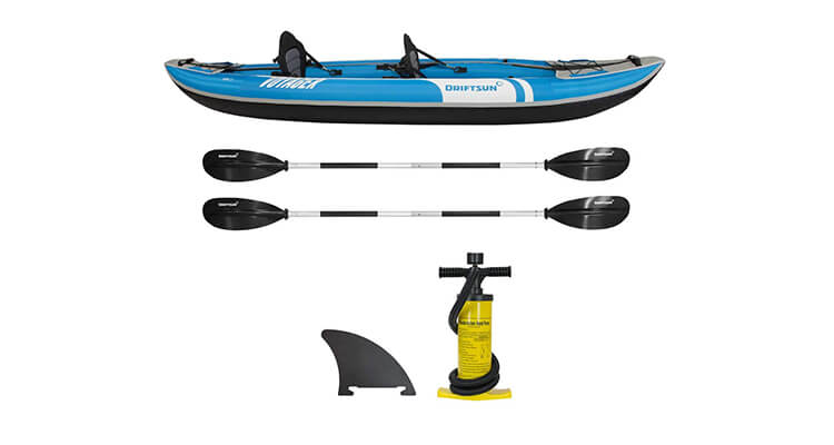Driftsun Voyager 2 Person Inflatable Kayak Set