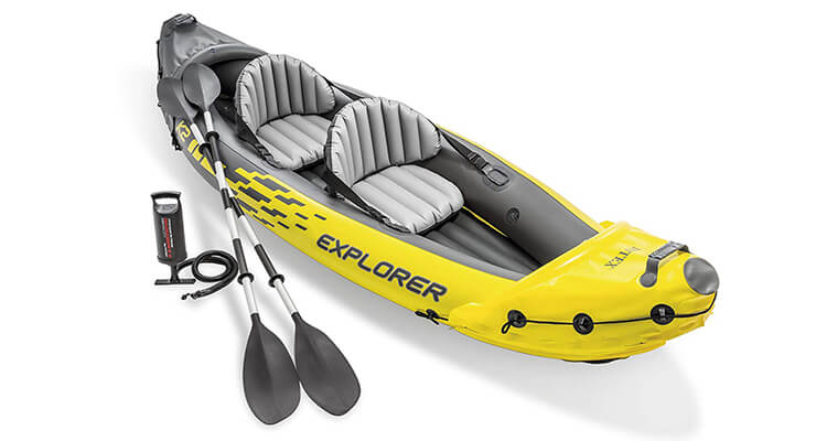 Intex Explorer K2 Kayak, 2 Person Inflatable Kayak Set